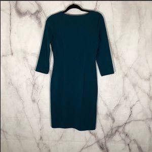 Spense Dresses - Spense teal green bodycon dress w/ruching sz. 4
